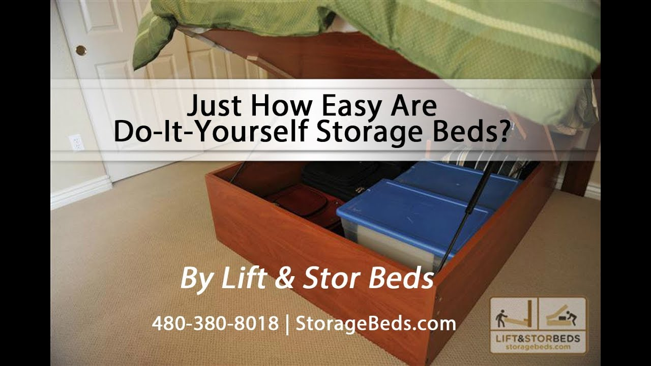 Make Your Own Platform Bed Storage