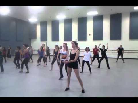beginning jazz dance class