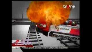 Simulasi Tragedi Kecelakaan Kereta Api VS Truk Minyak