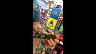 Disney Cars Acoustic Guitar: Pride and Joy, Stevie Ray Vaughan Cover