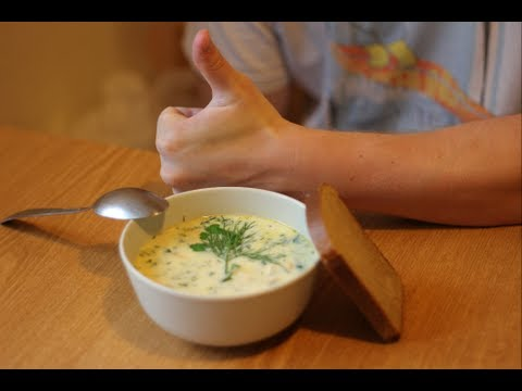 Рецепт сырного супа.