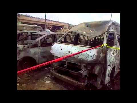 Abuja Bus Station Bombing : Explosion Scene Were Scores Were  Killed By A Car Bomb In Abuja