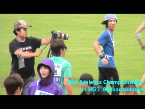 [fancam] 110827 Idol Athletics Championships Man Racewalking relay Super Junior  Forcus Sungmin