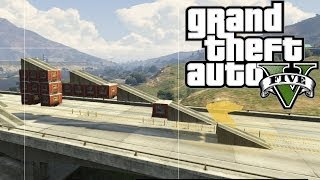 GTA 5 ONLINE How To Build Objects In Air ( Air Ramps