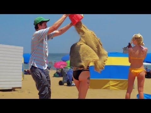 Throwing Sand Funny Prank!!