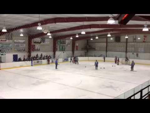 Kyler Carter #7 vs Dylan Ryan #5, Amherstburg Admirals vs Alvinstin Flyers