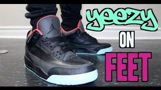Jordan 3 'Yeezy' Custom On-Feet!