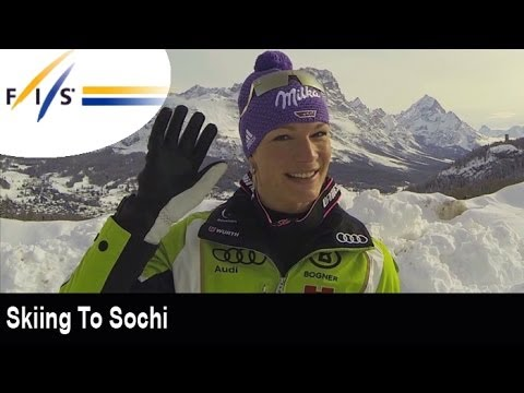 Skiing to Sochi with Maria Höfl-Riesch
