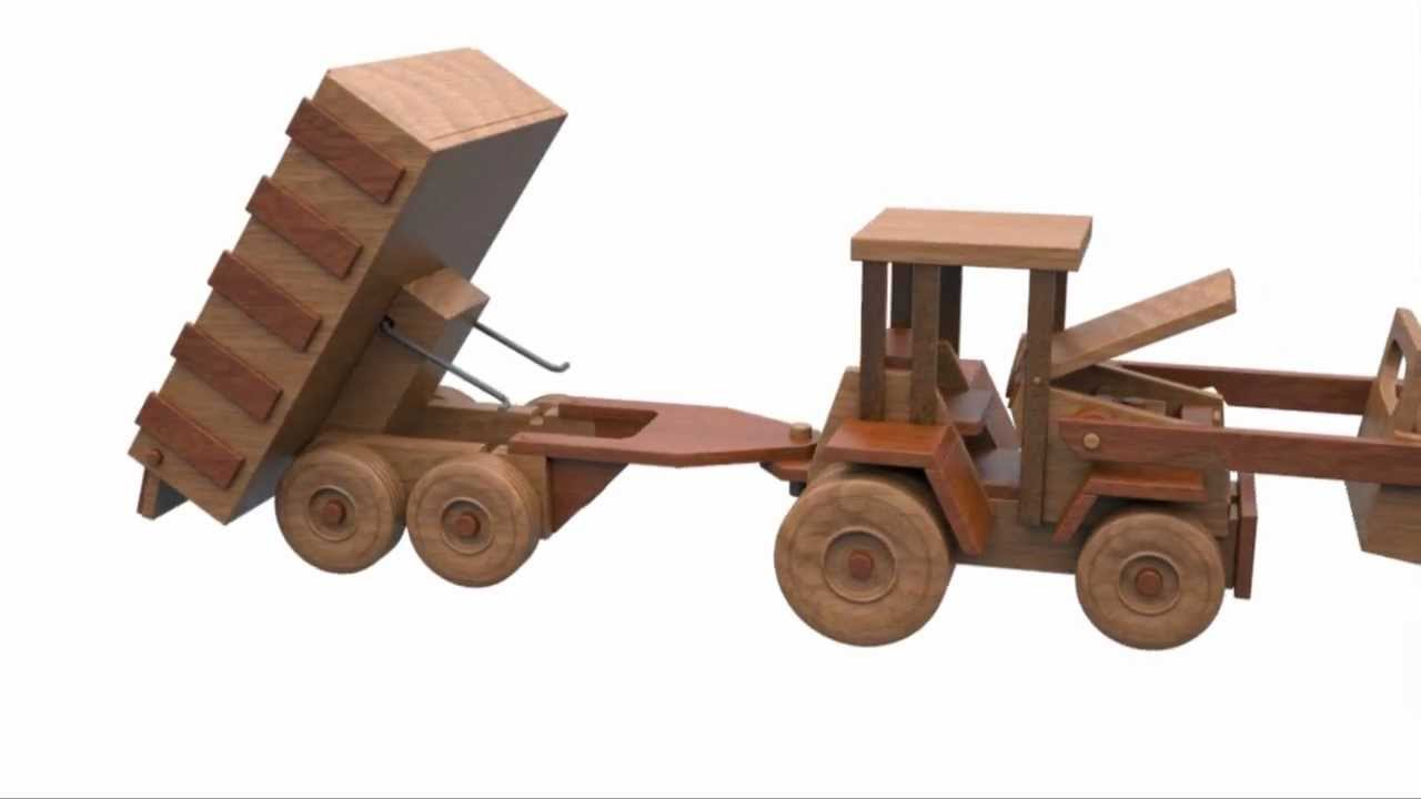 Wooden Tractor Plans : Wood toy plans table saw john deere farm tractor and
