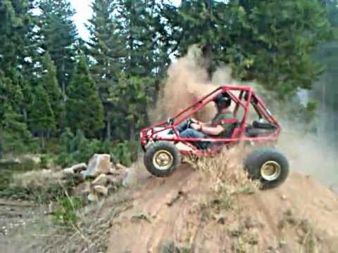 85 Honda FL350 Odyssey off road go-cart high center - YouTube