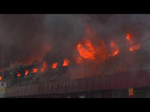 Арендаторы торговых точек сгоревшего рынка Искитима собрали деньги для семьи погибшего предпринимателя