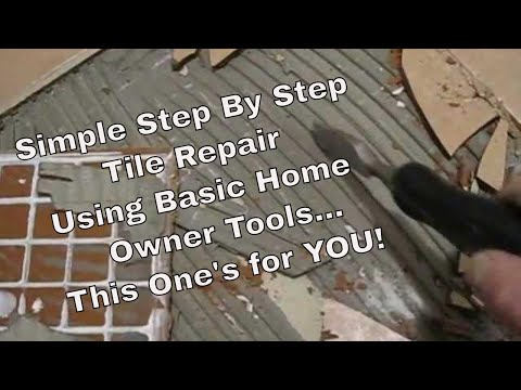 How To Fix Repair And Replace Cracked Damaged Ceramic Floor Tile