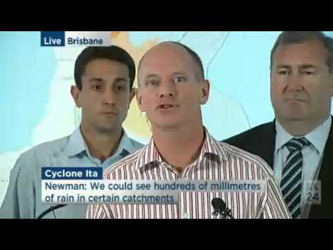 Campbell Newman & Qld emergency services urge preparation for Cyclone Ita