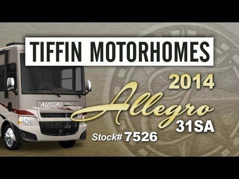 2014 Tiffin Allegro 31SA Class A Gas Motorhome (Stock# 7526)