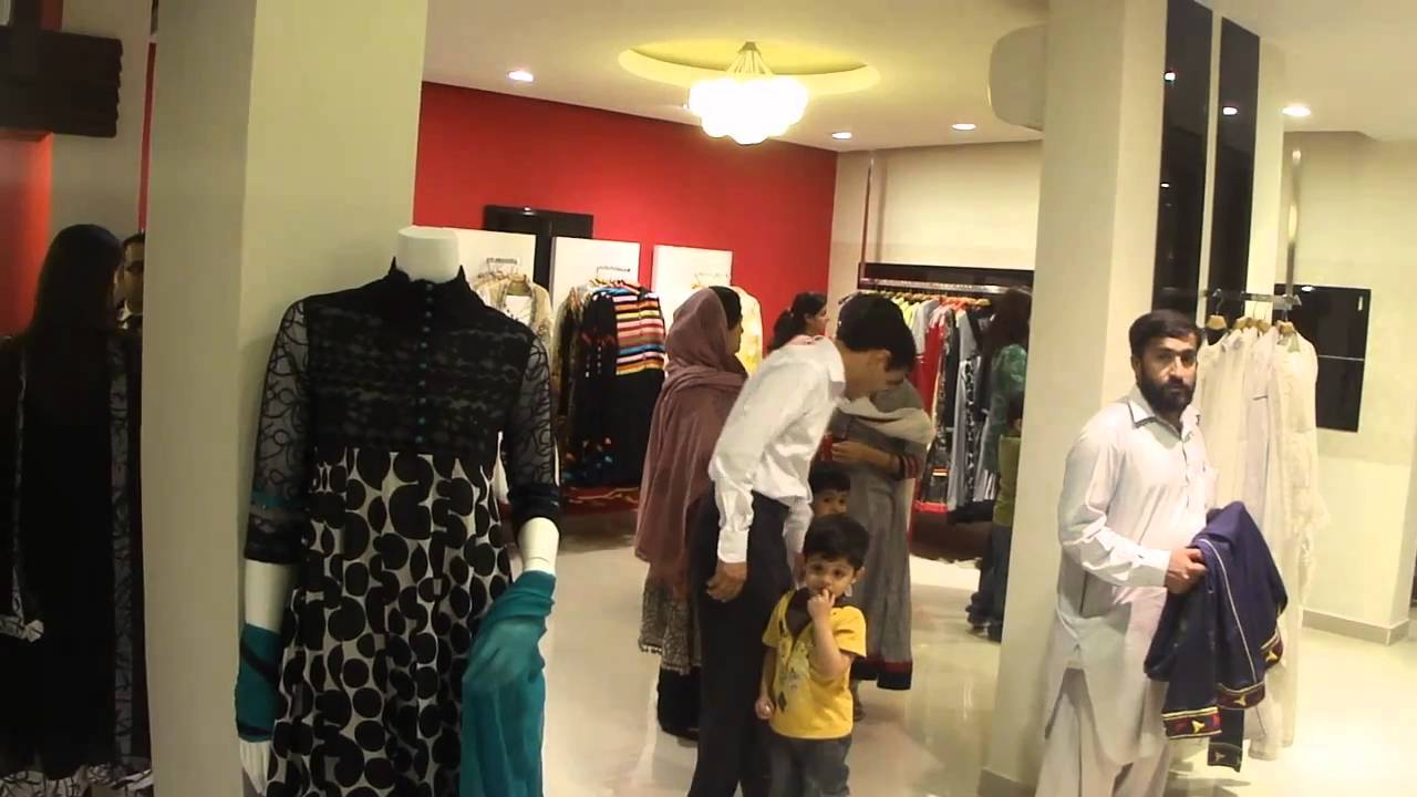 Ethnic BY Outfitters fashionable boutique shopping outlet 22 March 2011 Lahore Pakistan - YouTube