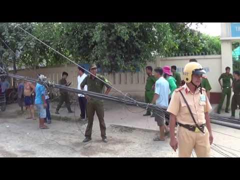Hình ảnh sau vụ sạt lở ở sông Vàm nao. An giang