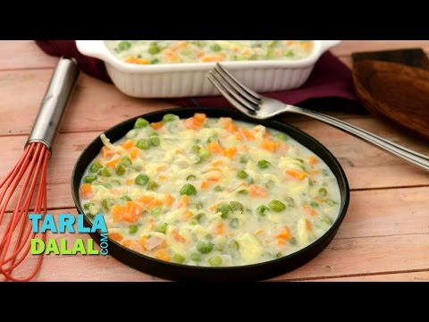 Low Calorie Vegetable Augratin by Tarla Dalal