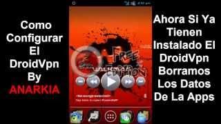 Configuracion DroidVpn Julio 2013 Internet Free Telcel