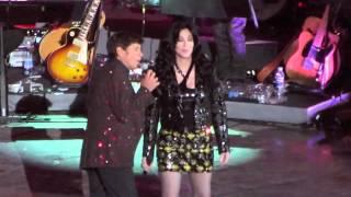 """CHER singing """"Bang Bang"""" feat Gianni Morandi live @ Arena di Verona (08.10.2013)"""