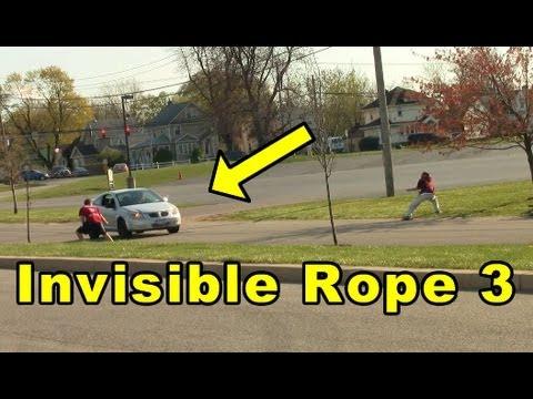 Co dokáže neviditelné lano?! :D