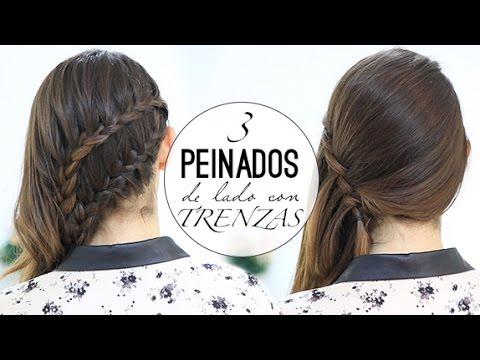 PEINADOS FÁCILES DE LADO CON TRENZAS
