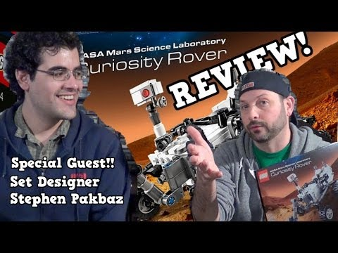 LEGO Mars Curiosity Rover Review with Set Designer Stephen Packbaz! CUUSOO 21104