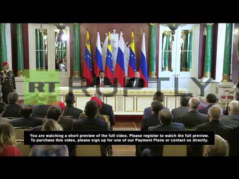 Russia: Putin and Maduro praise Chavez for bringing countries closer