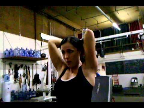 Tricep Press - Vote for Vitrix model Stephanie Mahoe