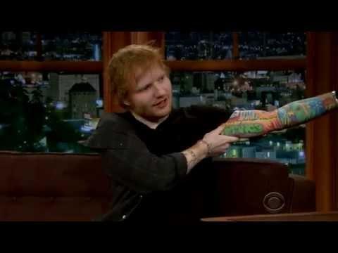 Ed Sheeran Shows His Weirdest Tattoo