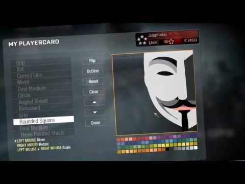 Black Ops: Emblem Tutorial Best V for Vendetta Mask
