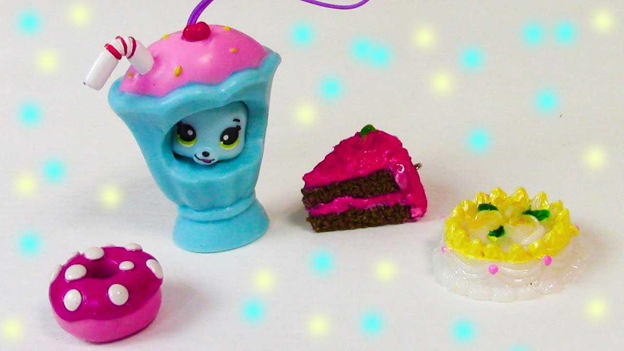 Ice cream shake bear party animals opening toy review food