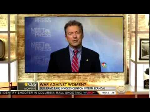 Only CBS Covers Rand Paul Blasting Bill Clinton's 'Predatory' Behavior Toward Women