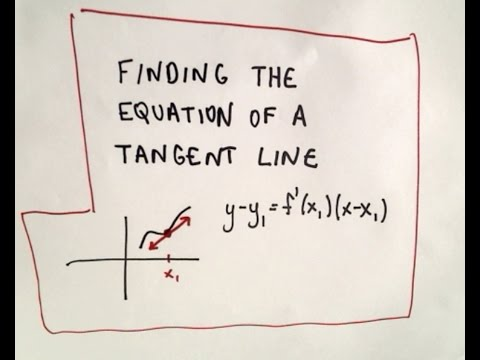 how to find an equation for a tangent line