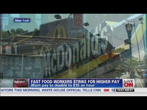 Fast food workers strike for higher pay