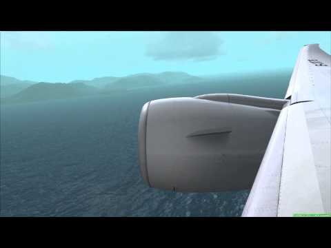 FSX PMDG 777 Landing Hong Kong International Airport VHHH [Chek Lap Kok]