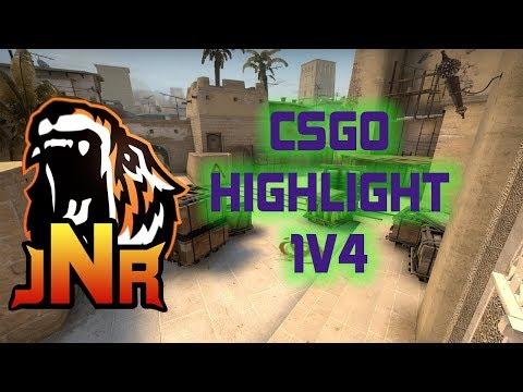 de_mirage 1v4 CSGO highlight
