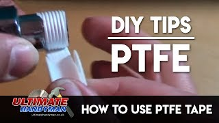 How to use PTFE tape