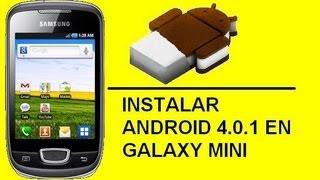 ANDROID Tutorial Actualizar Galaxy Mini A 4.0