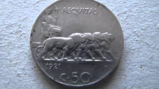 MONETE DA 5 10 50 CENTESIMI DEL 1937 1939 1921