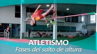 Atletismo. Fases del salto de altura