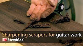Watch the Trade Secrets Video, Sharpening scrapers for guitar work: two simple jigs
