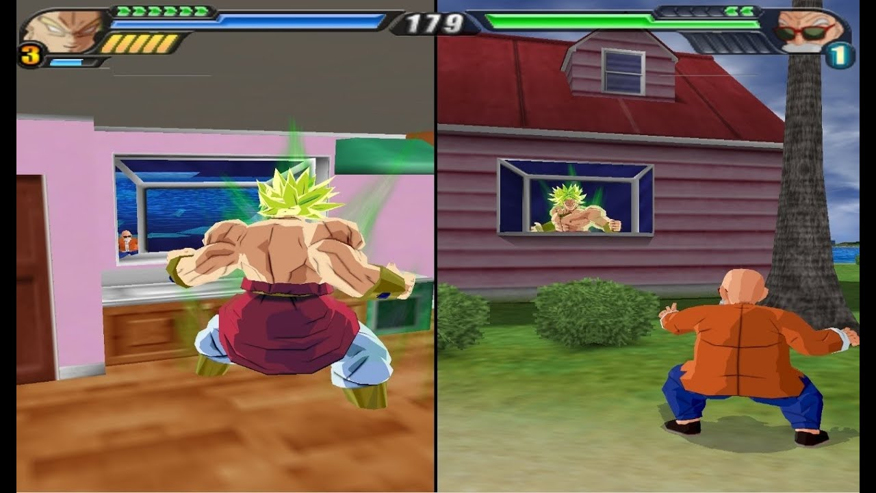 Dbz tenkaichi 3 glitch broly enters inside kame house for Dragon ball z living room