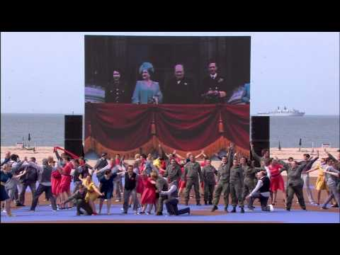 Watch the D-Day rememberance at Normandy beach