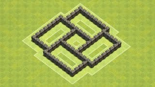 Clash Of Clans Town Hall 4 Defense (CoC TH4) BEST Farming
