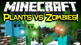 Minecraft: PLANTS VS ZOMBIES MOD Spotlight! Flower Power