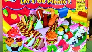 Doh-Dough Let's Go Picnic Playset Fried Chicken Hot Dog