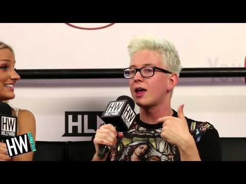 Tyler Oakley Talks Troyler Relationship & Darren Criss Crush! (VIDCON ...