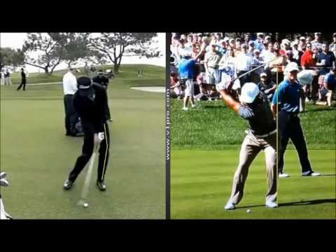 Glyn Meredith   Tiger Woods v Adam Scott swing analysis using V1 Golf