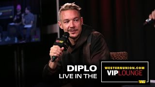 Diplo talks about working with Madonna, speaks on Deadmau5 and his experience at Burning Man.