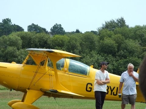Full size biplane flight